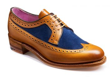 Barker Abbey - Cedar Calf/Blue Suede - D - Medium - 4