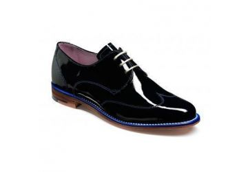 Barker Charlie - Navy Patent - D - Medium - 4.5