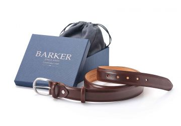 Barker Belt - Mocha Calf/Plain