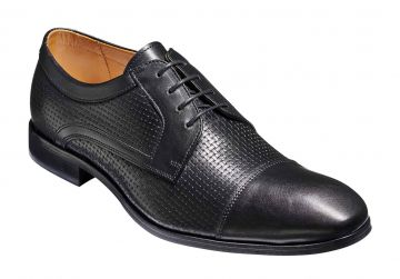 Barker Pytchley - Black Calf/Weave - G - Wide - 6.5