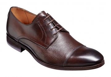 Barker Southwold - Dark Brown Calf/Deerskin - G - Wide - 7.5