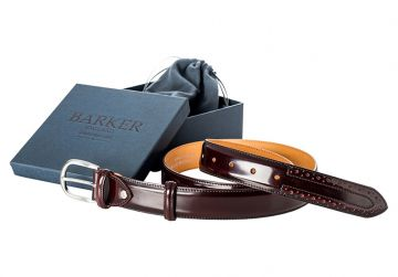 Barker Belt - Burgundy Hi-Shine/Brogue