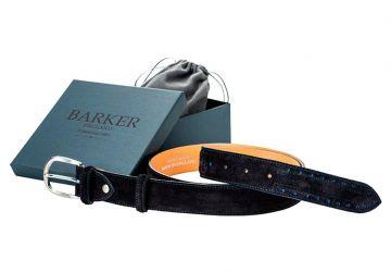 Barker Belt - Navy/Blue Suede/Brogue