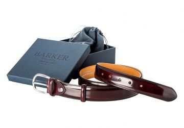 Barker Plain Belt - Burgundy Hi-Shine