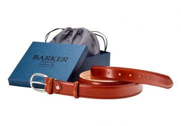 Barker Plain Belt - Rosewood Calf