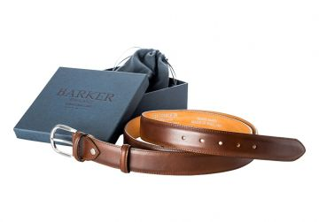Barker Plain Belt - Mahogany Calf