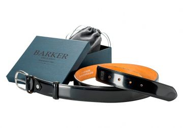 Barker Belt - Black Patent/Plain