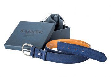 Barker Belt - Blue Suede/Plain