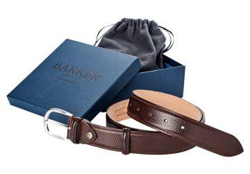 Barker Belt - Dark Brown Grain/Plain