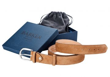 Barker Belt - Snuff Suede/Plain