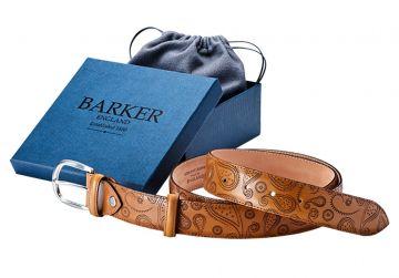 Barker Belt - Cedar Calf/Paisley Laser/Plain