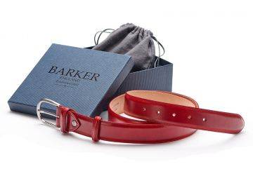 Barker Plain Belt - Red Hand Painted