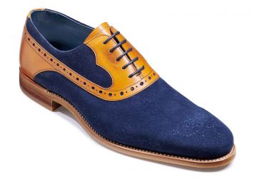 Barker Elliot - Navy Suede/Cedar Calf - FX - Medium+ - 7.5