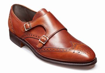 Barker Fleet - Rosewood Calf/Grain - F - Medium - 7.5