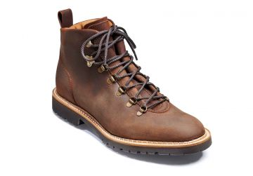 Barker Glencoe - Mid Brown Waxy Suede - F - Medium - 12