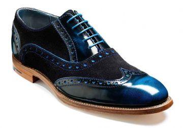 Barker Grant - Classic Blue/Black/Blue Hi-Shine - F - Medium - 9.5