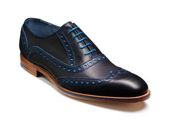 Barker Grant - Navy/Classic Blue Calf - F - Medium - 10.5
