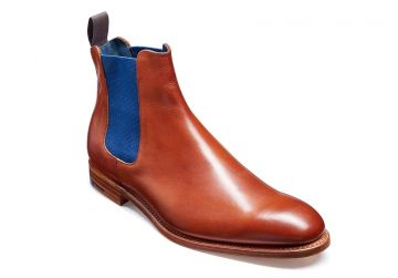 Barker Hopper - Rosewood Calf/Navy Elastic - F - Medium - 6