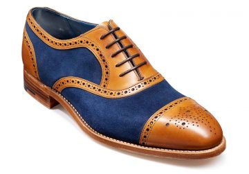 Barker Hursley - Cedar Calf/Navy Suede - F - Medium - 10