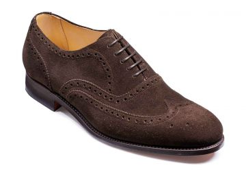 Barker Malton - Burnt Oak Suede - Dainite Sole - F - Medium - 10