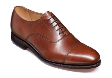 Barker Malvern - Dark Walnut Calf - Dainite Sole - G - Wide - 6.5