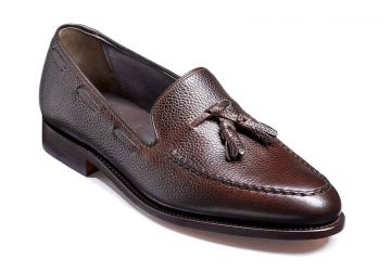 Barker Newborough - Dark Brown Grain - F - Medium - 8.5
