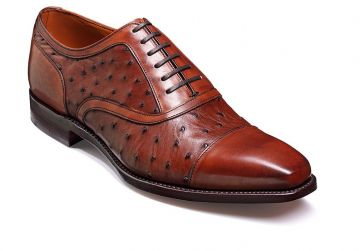 Barker Puccini - Brown Calf/Ostrich - FX - Medium+ - 7