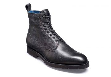 Barker Sully - Black Deerskin - F - Medium - 9.5