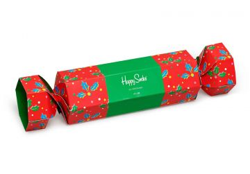 Happy Socks Christmas Cracker Holly Gift Box