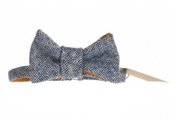 Hata Blue Speckled Bow Tie