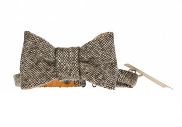 Hata Brown Speckled Bow Tie