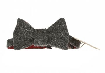 Hata Charcoal Speckled Bow Tie