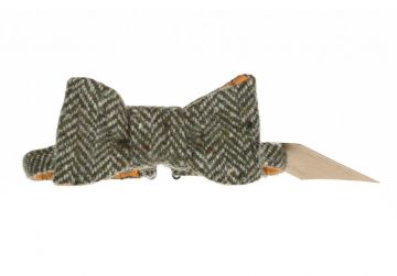 Hata Green Herringbone Bow Tie