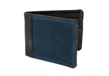 Oxburgh Navy Canvas Wallet