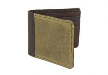 Oxburgh Olive Canvas Wallet