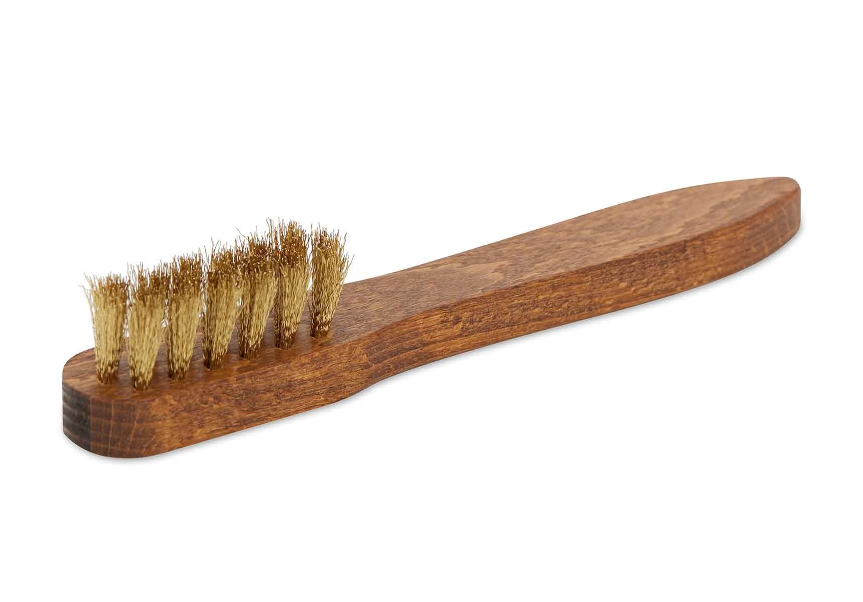 R.M. Williams Suede Brass Bristle Brush