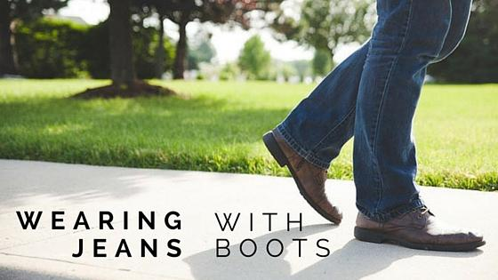 The best way to wear jeans with boots