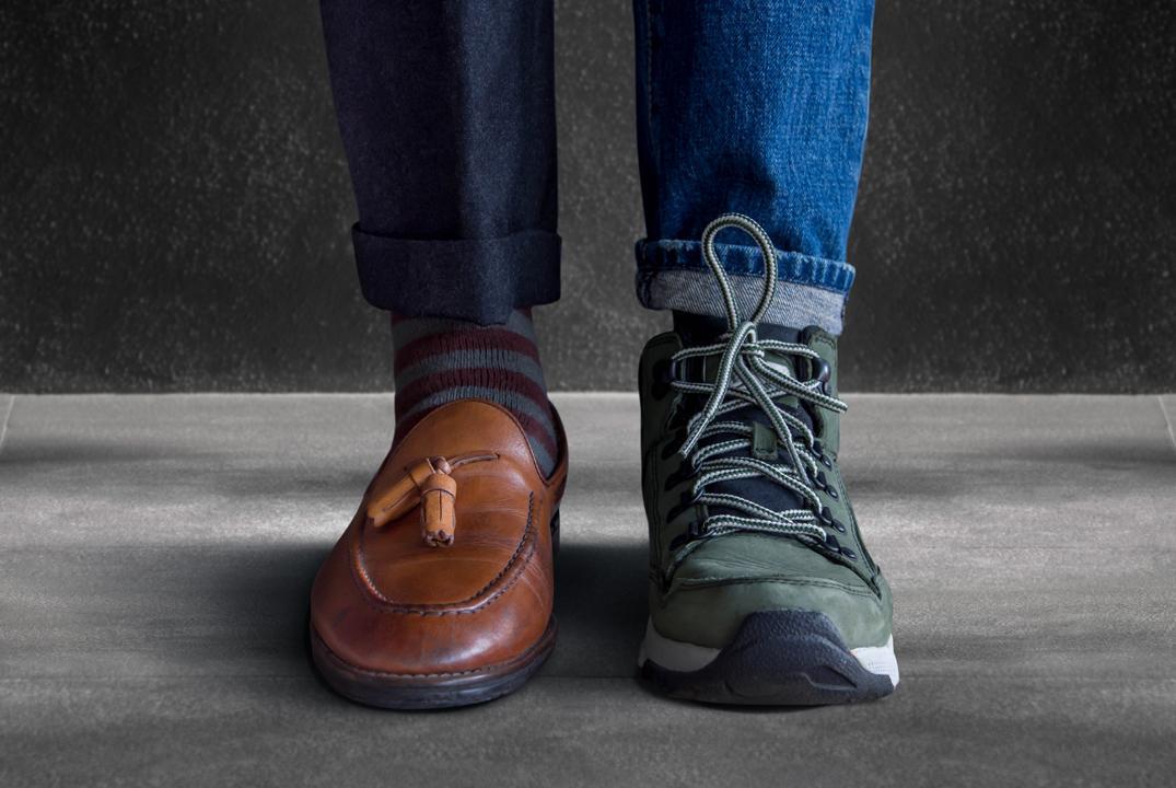 Formal vs. casual shoes