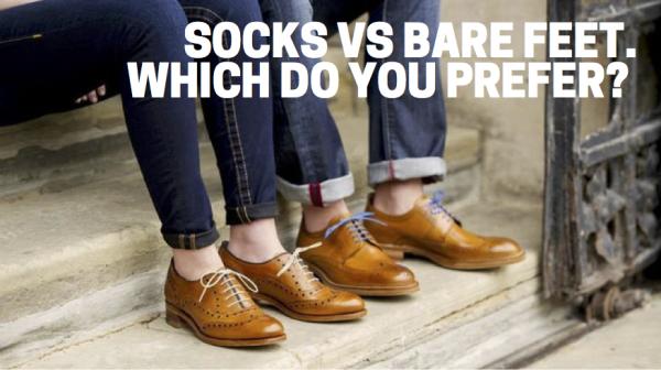 Socks vs bare feet - which do you prefer?