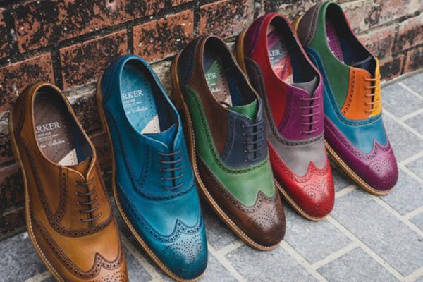 Colourful men's dress shoes