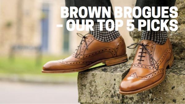 Brown brogues – our top 5 picks
