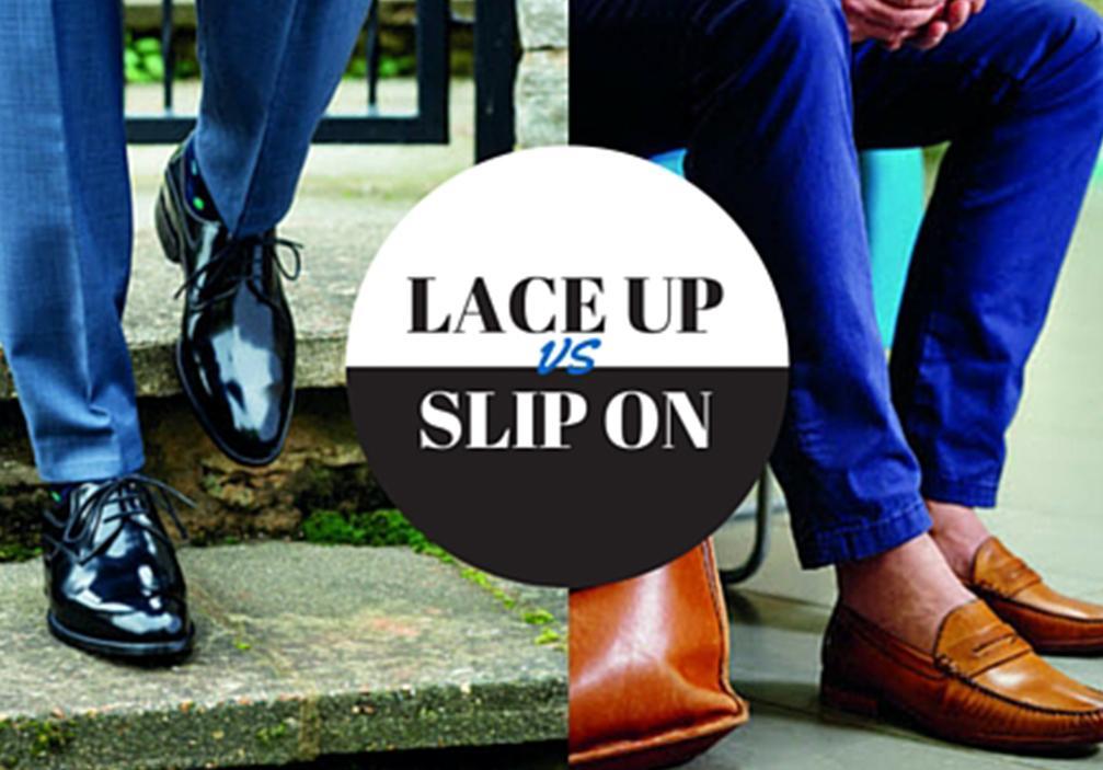 Lace up shoes vs slip on shoes