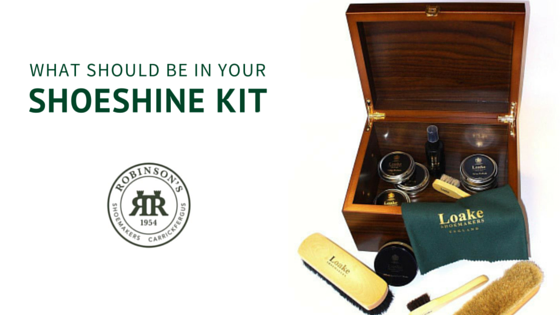 What should be in your shoeshine kit?