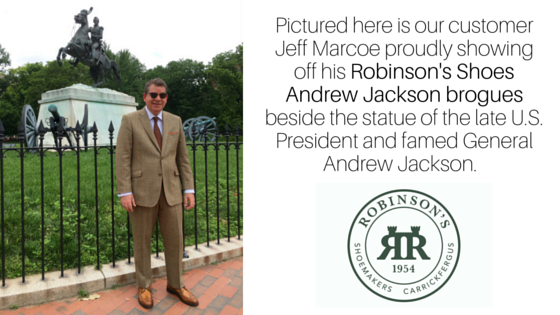 Andrew Jackson out and about in Washington, DC.