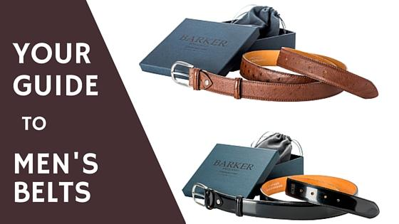 Your guide to men's belts
