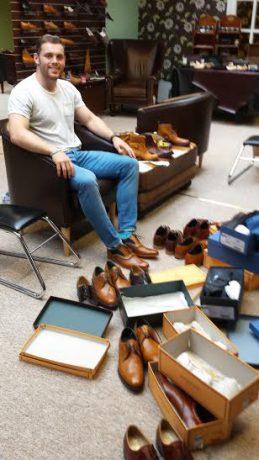 Darren Cave new shoes