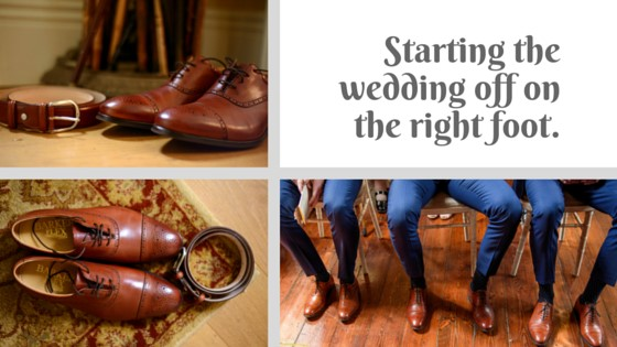 Starting the wedding off on the right foot