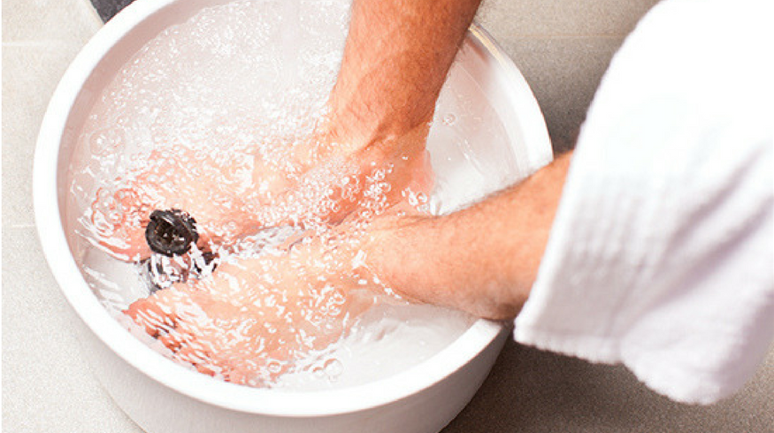Homemade foot soaks for sore feet