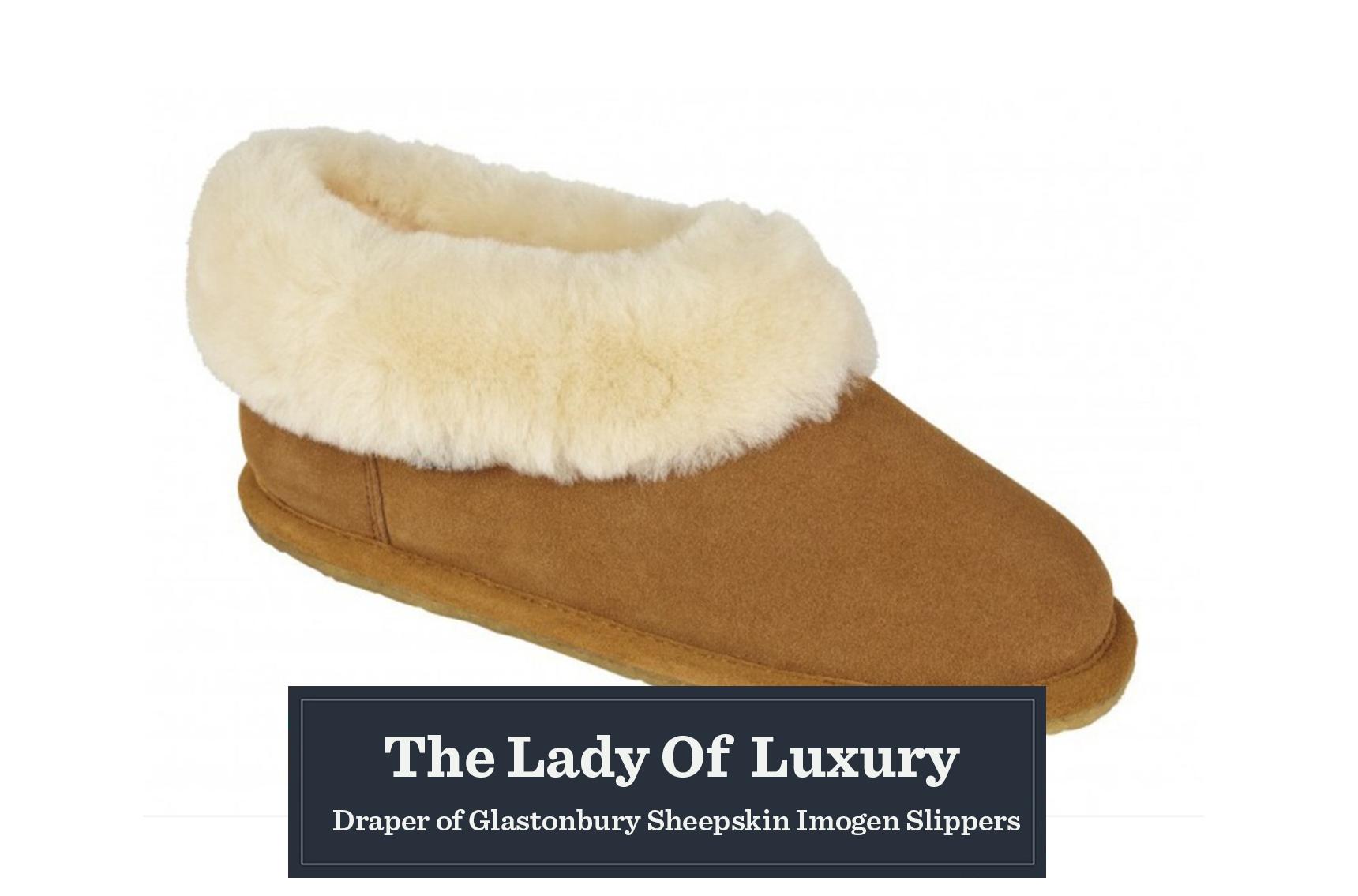 Draper of Glastonburry Sheepskin slippers gift