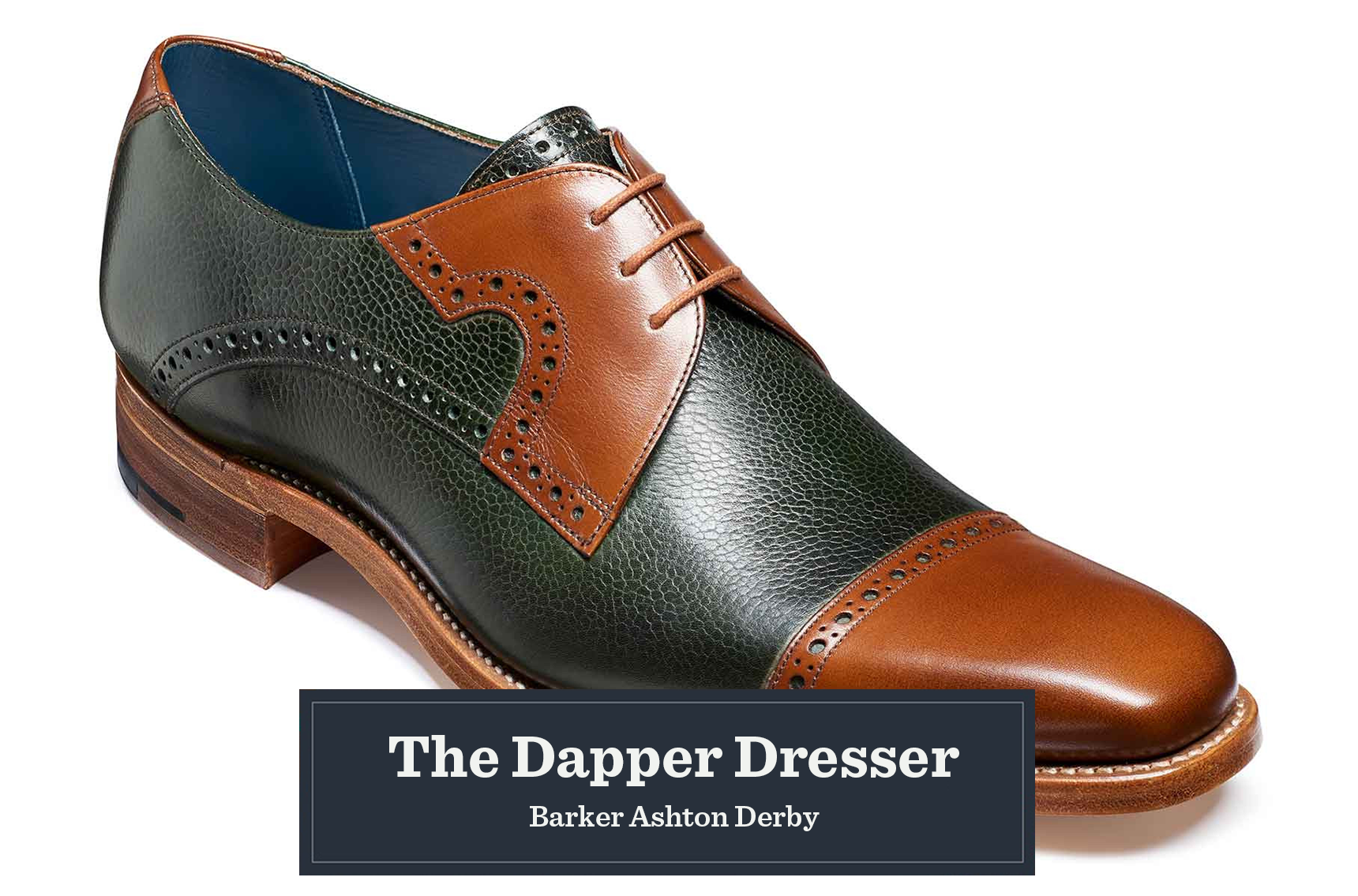 2abd2f84 These stylish shoes combine luxurious calf and grain leathers into one  design, embellished with subtle punched detailing to add ...